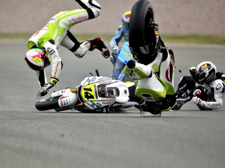 Espargaró, Bautista and De Puniet crash during the race in Sachsenring