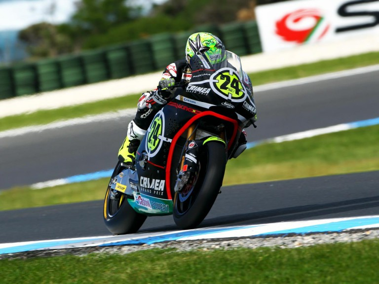 Elias in action at Phillip Island