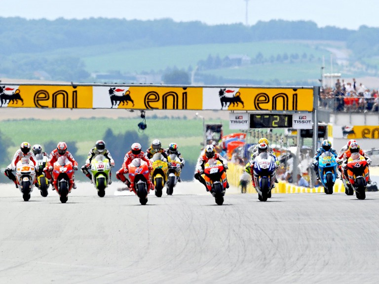 MotoGP action at the eni Motorrad GP Deutschland