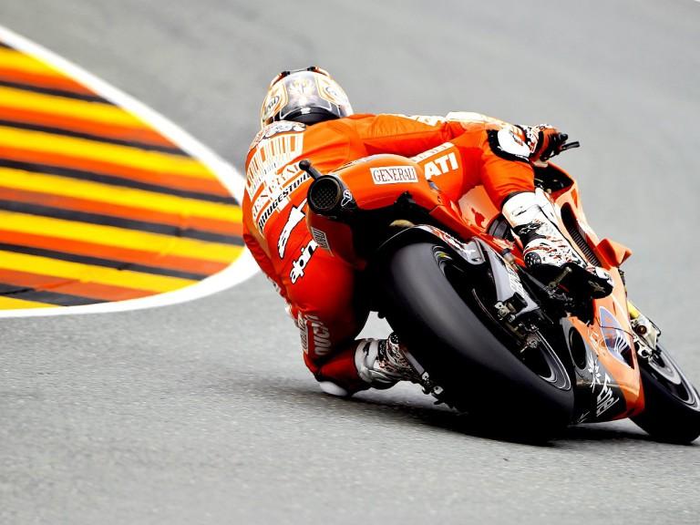 Nicky Hayden in action in Sachsenring