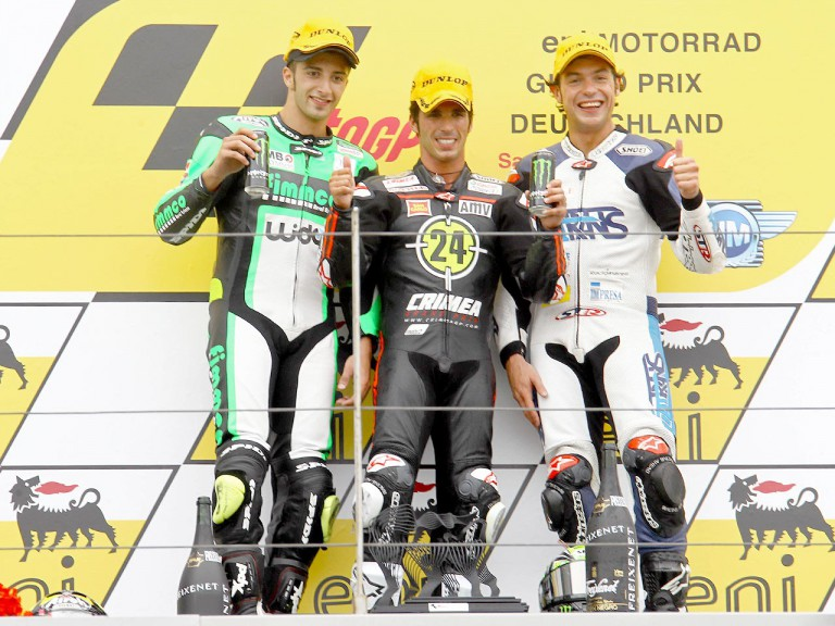 Iannone. Elias and Rolfo on the podium in Sachsenring