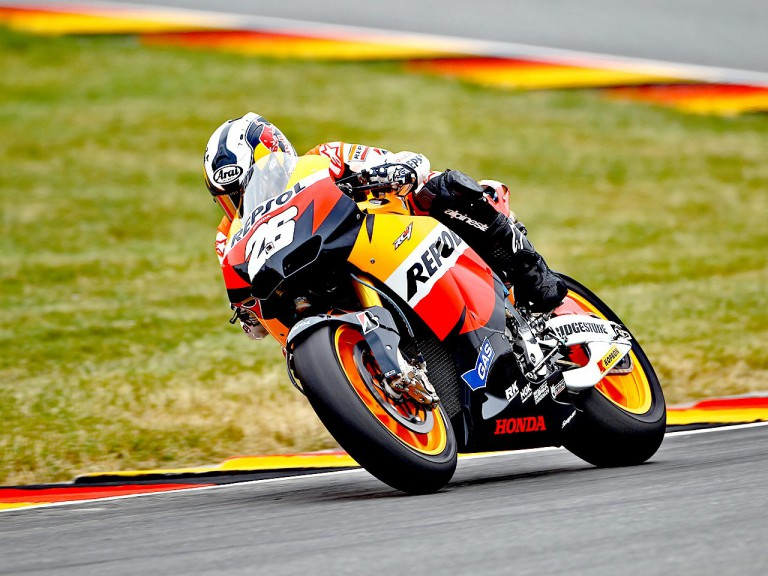 Dani Pedrosa in action in Sachsenring