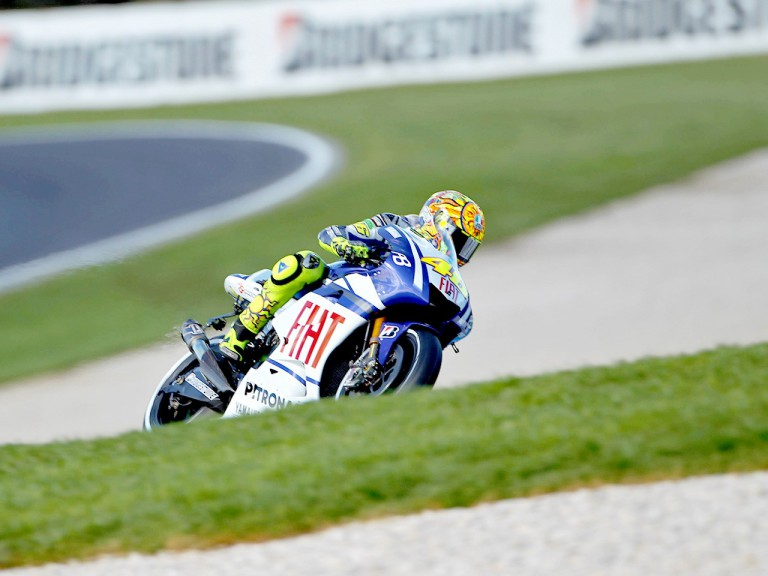 Valentino Rossi in action at Phillip Island