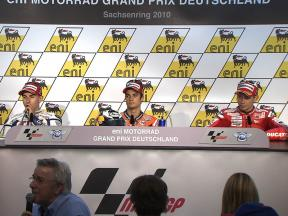 eni MOTORRAD GRAND PRIX DEUTSCHLAND Post-race Press Conference