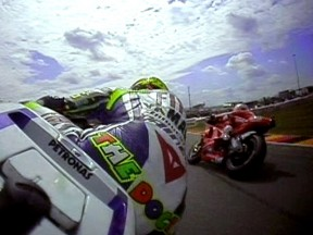 On Board Sachsenring lap with Rossi