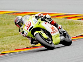 Mika Kallio on track in Sachsenring