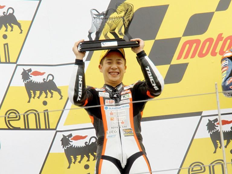 Tomoyoshi Koyama on the podium in Sachsenring