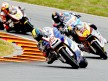 Karel Abraham riding ahead of Moto2 group in Sachsenring
