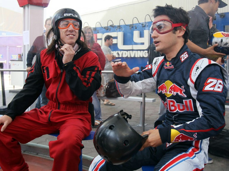 All Star pitcher Tim Lincecum and Dani Pedrosa at Wind Tunnel Sessions