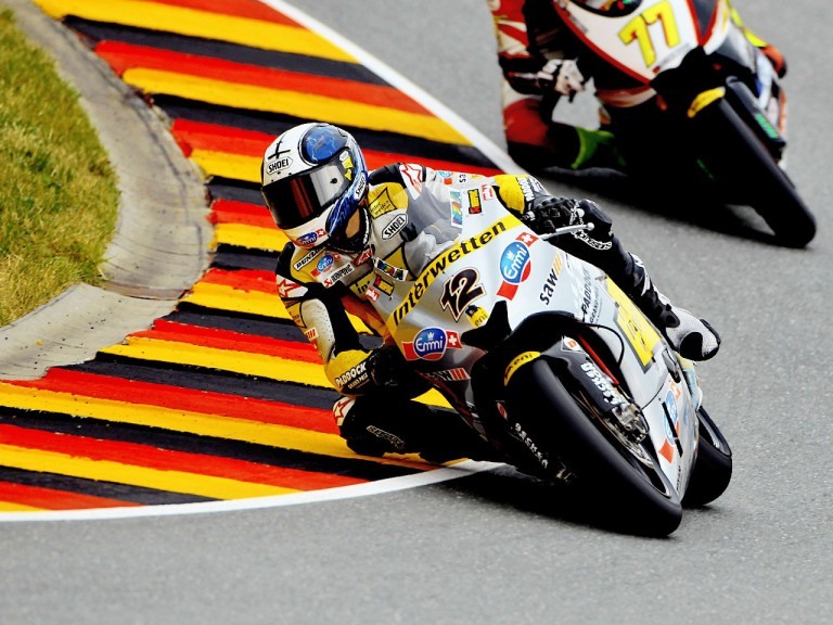 Thomas Luthi in action in Sachsenring