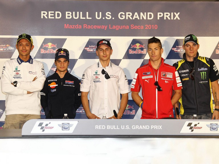 MotoGP riders at the Red Bull U.S. Grand Prix press conference