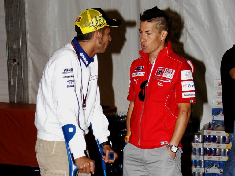 Rossi and Hayden in Laguna