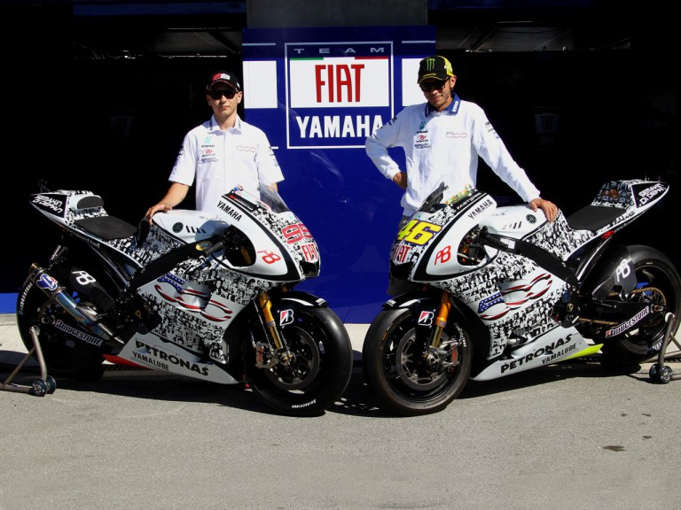Fiat Yamaha unveil 500 Livery at Laguna Seca