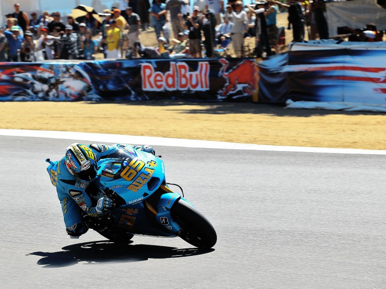 Loris Capirossi in action in Laguna Seca