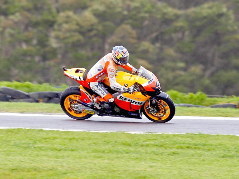 Andrea Dovizioso in action at Phillip Island