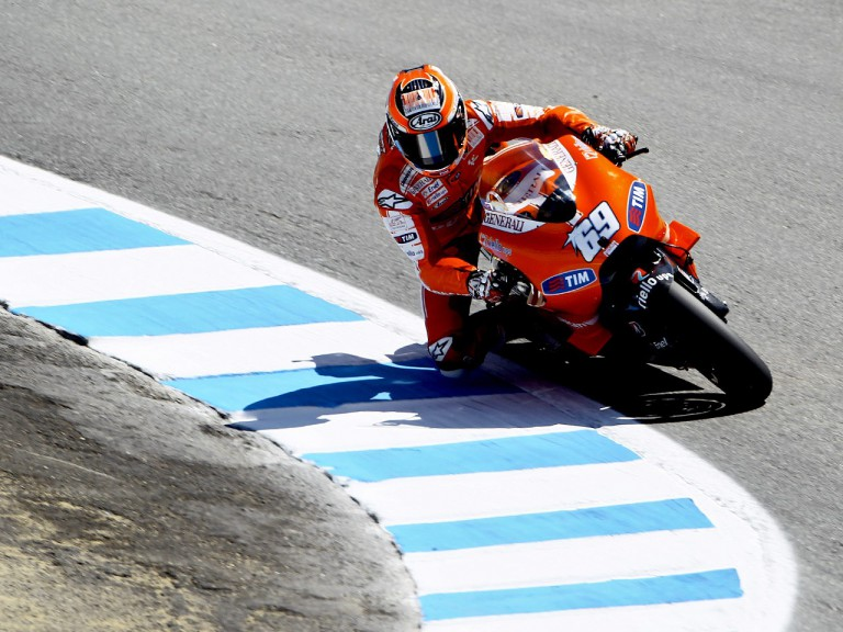 Nicky Hayden on track in Laguna Seca