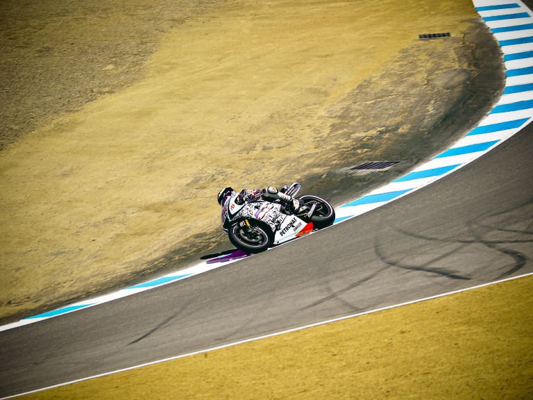 Jorge Lorenzo on track in Laguna Seca