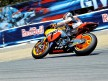 Dani Pedrosa in action in Laguna Seca