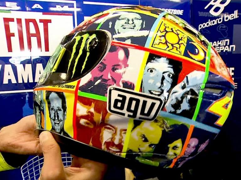 Rossi´s special helmet design for Laguna Seca