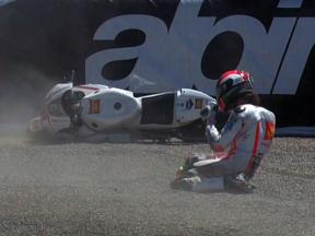 Laguna Seca 2010 - MotoGP - Race - Action - Marco Simoncelli - Crash