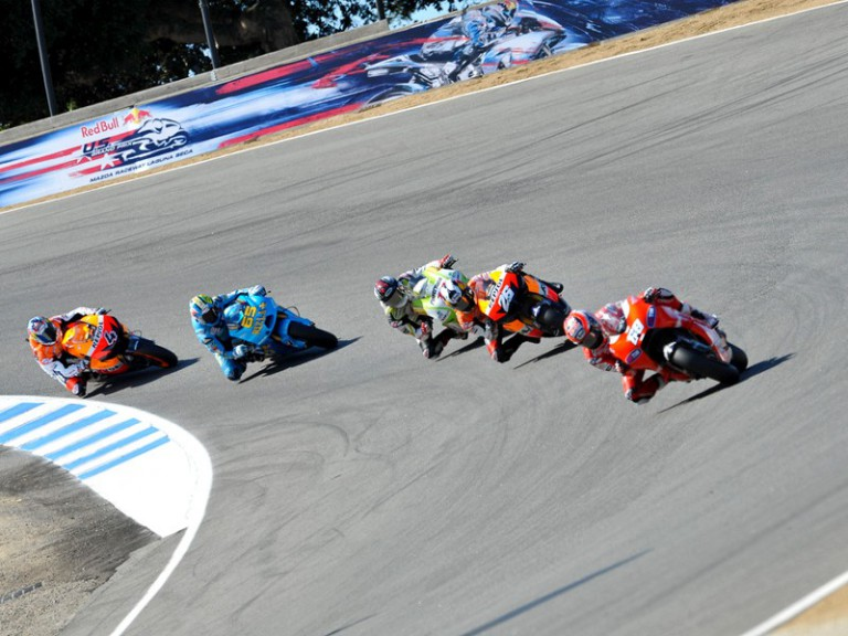 MotoGP action in Laguna Seca