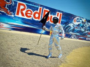 Jorge Lorenzo celebrates GP win in Laguna Seca
