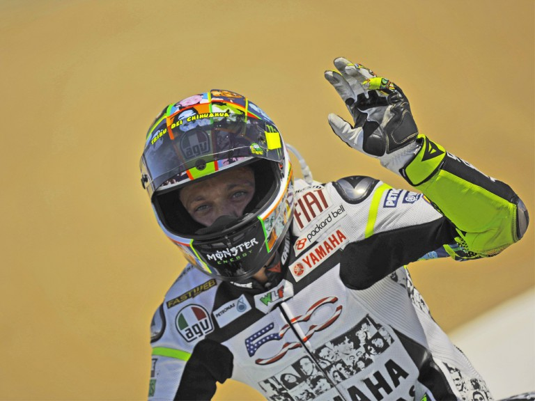 Valentino Rossi after the race in Laguna Seca