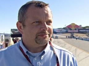 motogp.com live commentator Ian Wheeler in Laguna Seca