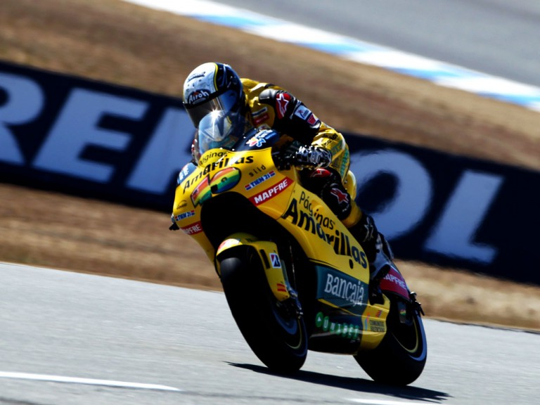 Hector Barbera in action at Laguna Seca