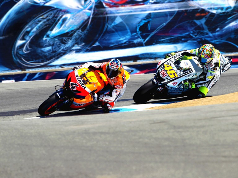 Dovizioso and Rossi fighting for the podium