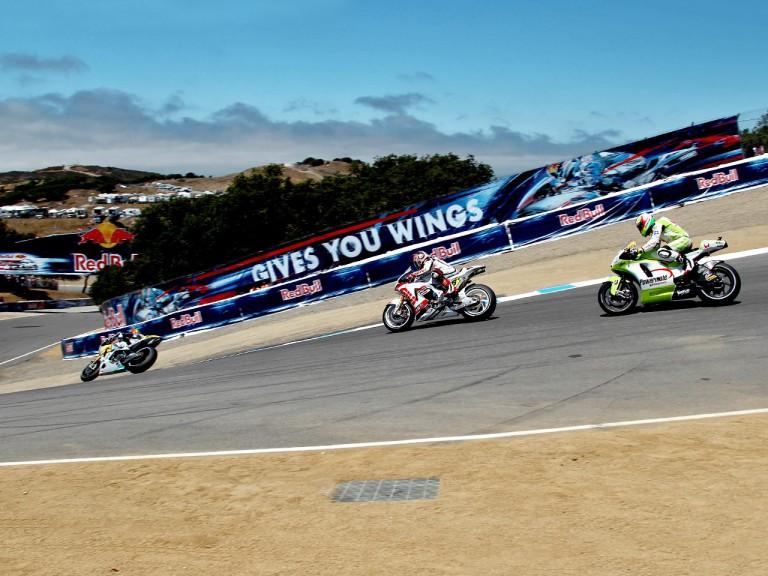 MotoGP group in action in Laguna Seca
