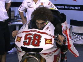 Marco Simoncelli feels the benefits of improved aerodynamics