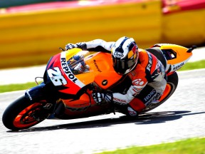 Dani Pedrosa on track