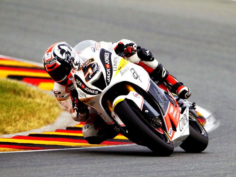 Olive in action at Sachsenring