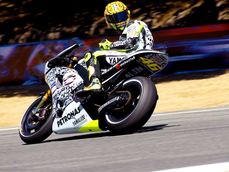Valentino Rossi on track at Laguna Seca