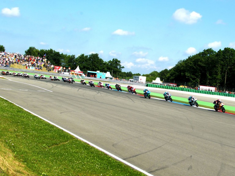 125cc group in action at Assen