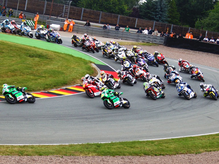 Moto2 group in action at Sachsenring