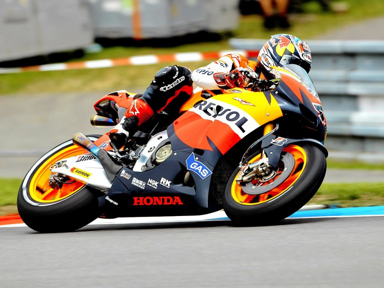 Andrea Dovizioso in action in Brno