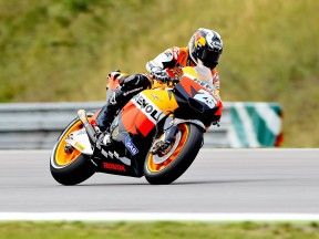 Dani Pedrosa on track in Brno