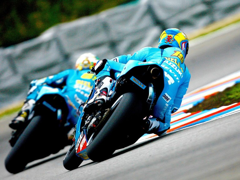 Rizlas´ Bautista and Capirossi in action in Brno