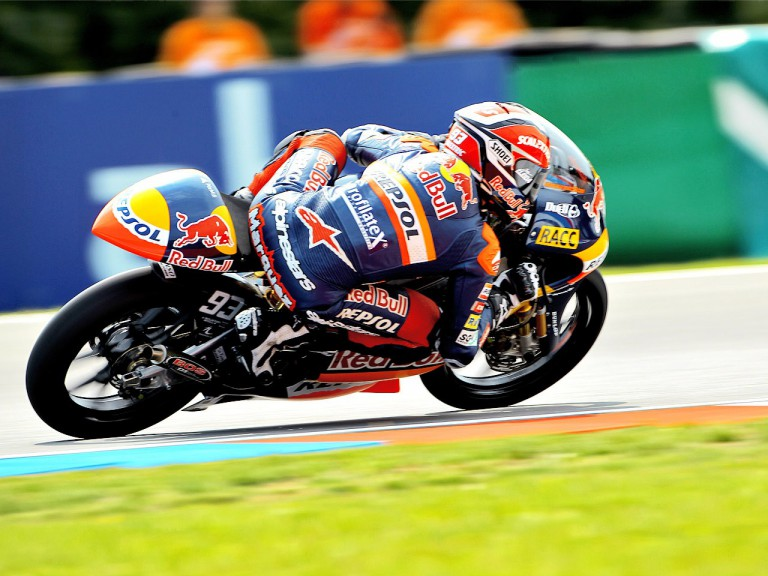 Marc Marquez in action in Brno