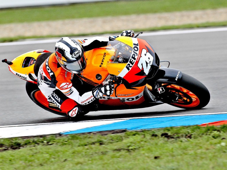 Dani Pedrosa in action in Brno