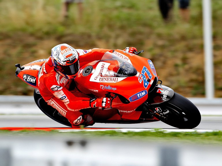 Casey Stoner in action in Brno
