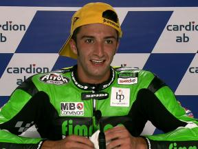 Brno 2010 - Moto2 - Race - Interview - Andrea Iannone