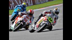 De Puniet riding ahead of Simoncelli in Brno