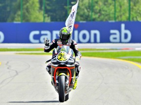 Toni Elías after the Moto2 race in Brno