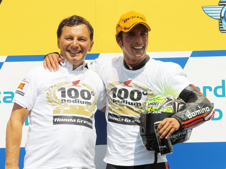 Gresini and Elias celebrate 100th GP podium at Brno