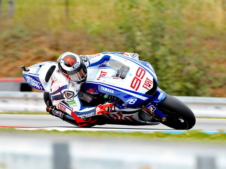 Jorge Lorenzo in action in Brno