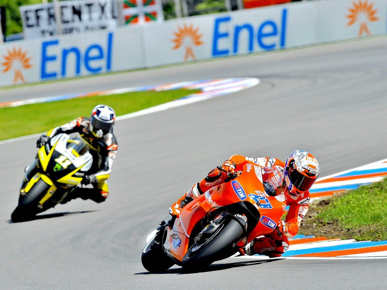 Stoner riding ahead of SPies in Brno