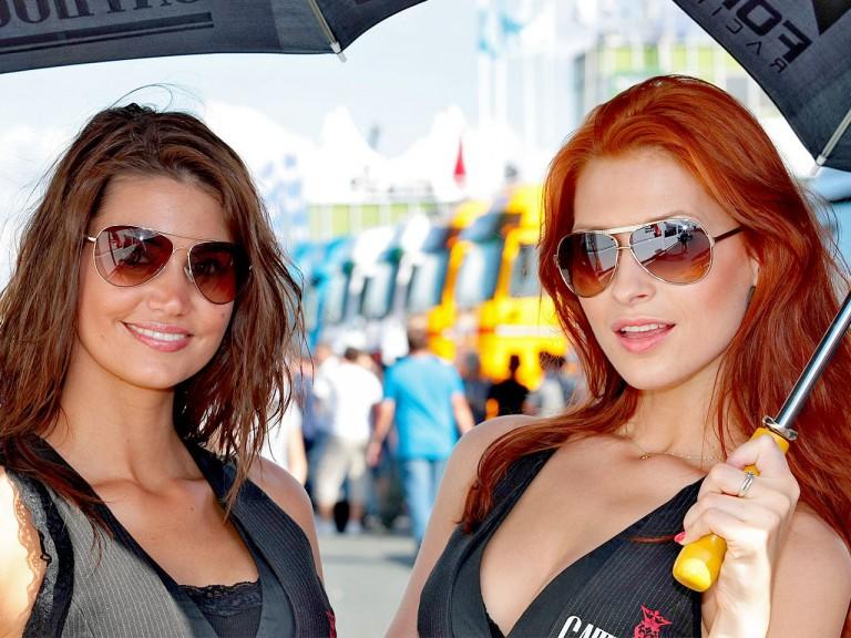 Paddock Girls at the Cardion AB GP Ceské Republiky